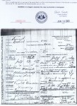 Death Certificate: Christian F. Lee (1858-1906)