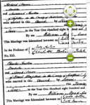 Certificates of 1813 Pearce & Austen weddings (Ancestry.com)