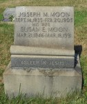 Joseph M., Jr. & Susan E. Moon stone at Cross Roads Cemetery, Pine Twp., PA