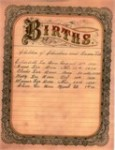 Christian Lee family Bible with births recorded