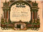 Christian & Laura's marriage certificate