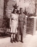 Hilda E. & Richard O. Miller Newly weds Baltimore 1943