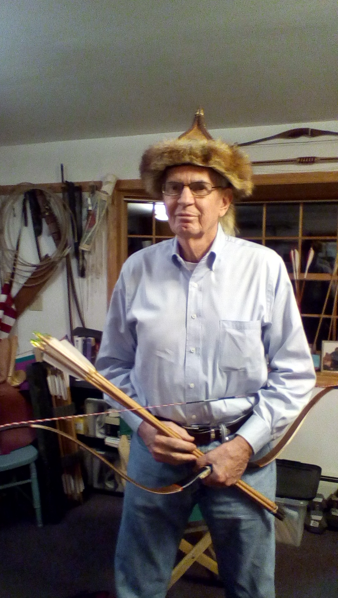 Dave with tradition hat & archery equipment in 2015