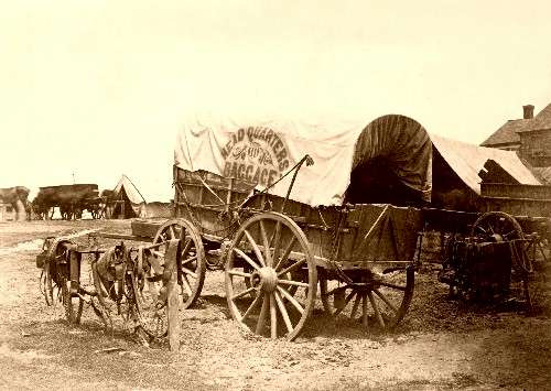 Typical Civil War company wagon