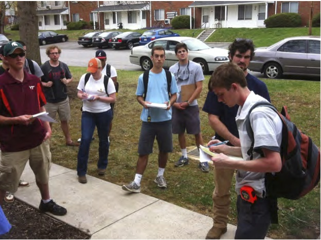 VA Tech students doing site survey