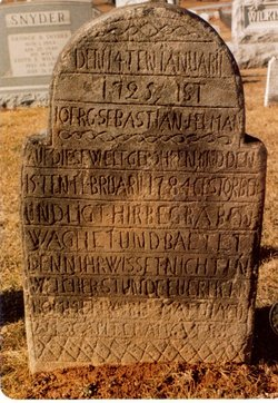 Tombstone of George Sebastian Helman (1725-1784) Franklin Co., PA